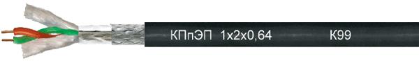 Кабель сети ProfiBus-DP КПпЭП 1х2х0,64