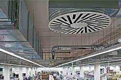 Система вентиляции и дымоудаления в супермаркете