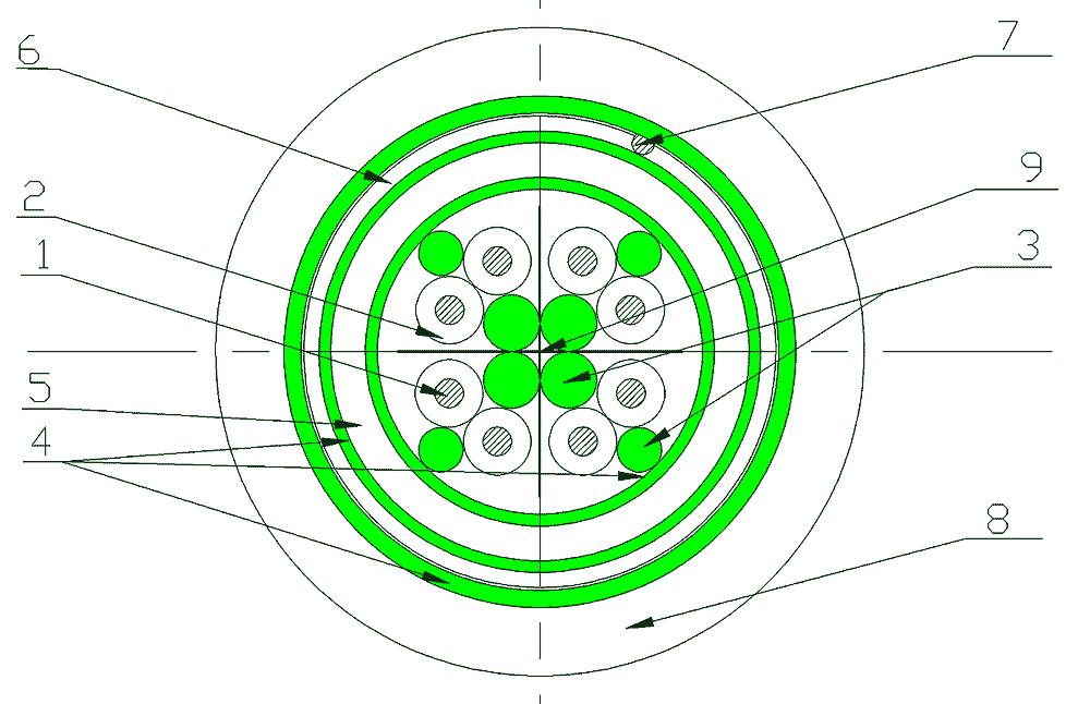 Конструкции судовых кабелей герметизированных ВБ – материалом