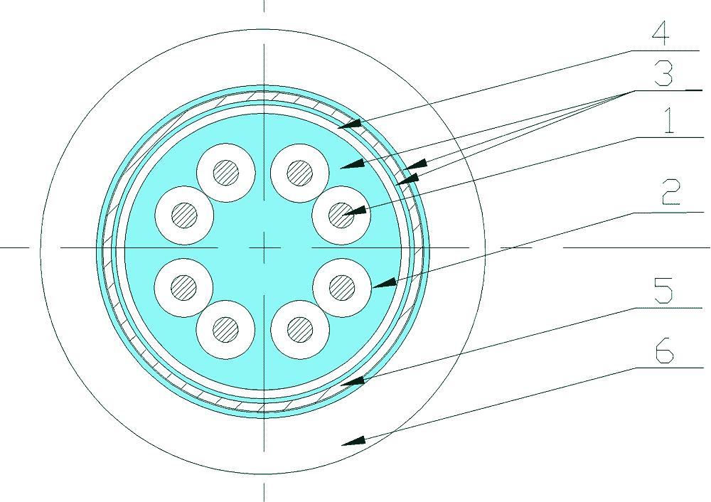 Конструкции судовых кабелей герметизированных герметиком